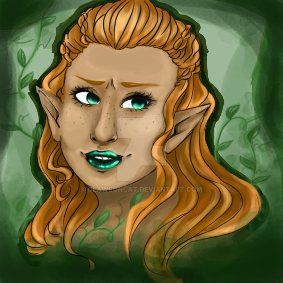 Elf (practicing photoshop) by clawsoncat