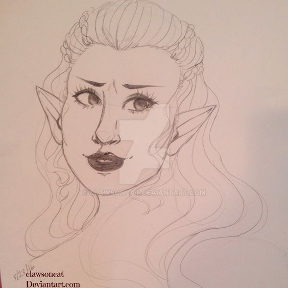 Original Elf Sketch by clawsoncat