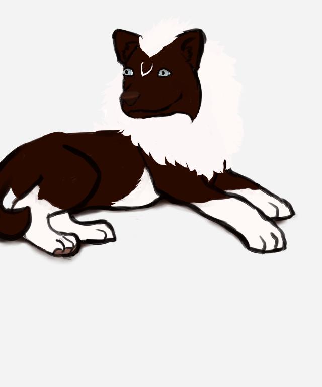 Pup Aibek- Style Experiment by magikwolf