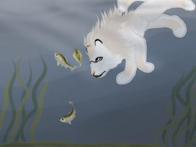 Sif Fishing 02 by magikwolf