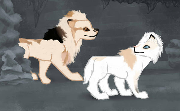 Caving 04 Grace and Nyra by magikwolf