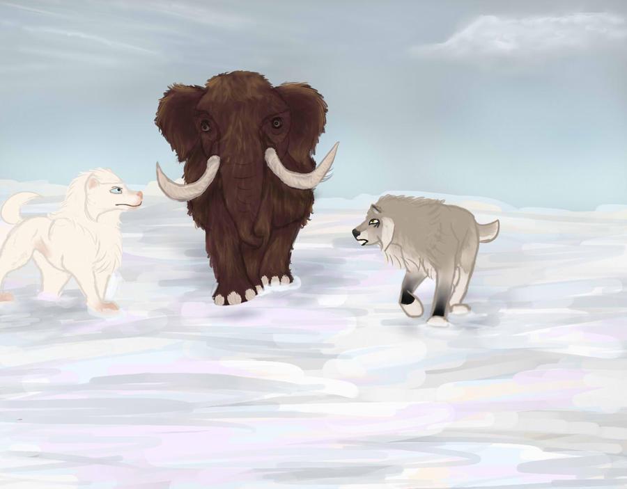 Prehistoric Hunting 2 - Elytrin and Lina by magikwolf