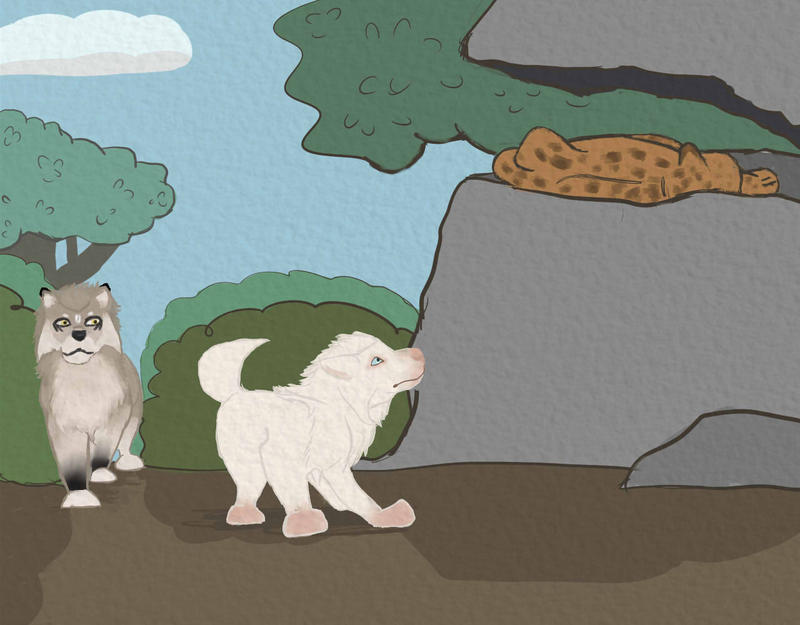 Prehistoric Hunting 3 - Elytrin and Lina by magikwolf