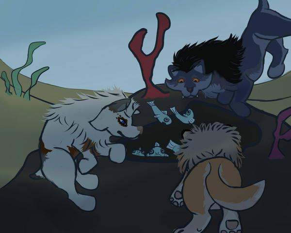 Fishing Trio 02 by magikwolf