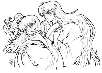 Sesshomaru x Rin - Ink by Avro-Chan