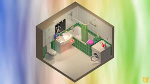 Isometric bathroom