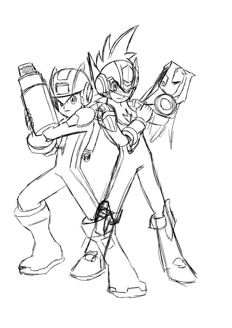 megaman exe starforce by kyosourade - Mega Man Printable Coloring Pages
