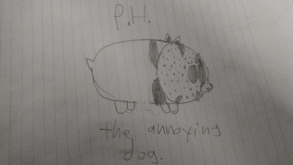 P.H. the annoying dog by PhantomPlanter