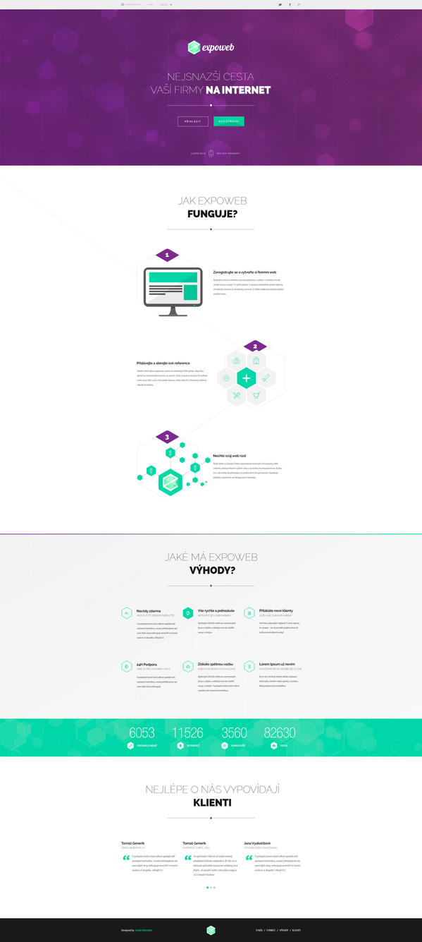 Expoweb homepage design WIP by djonas3