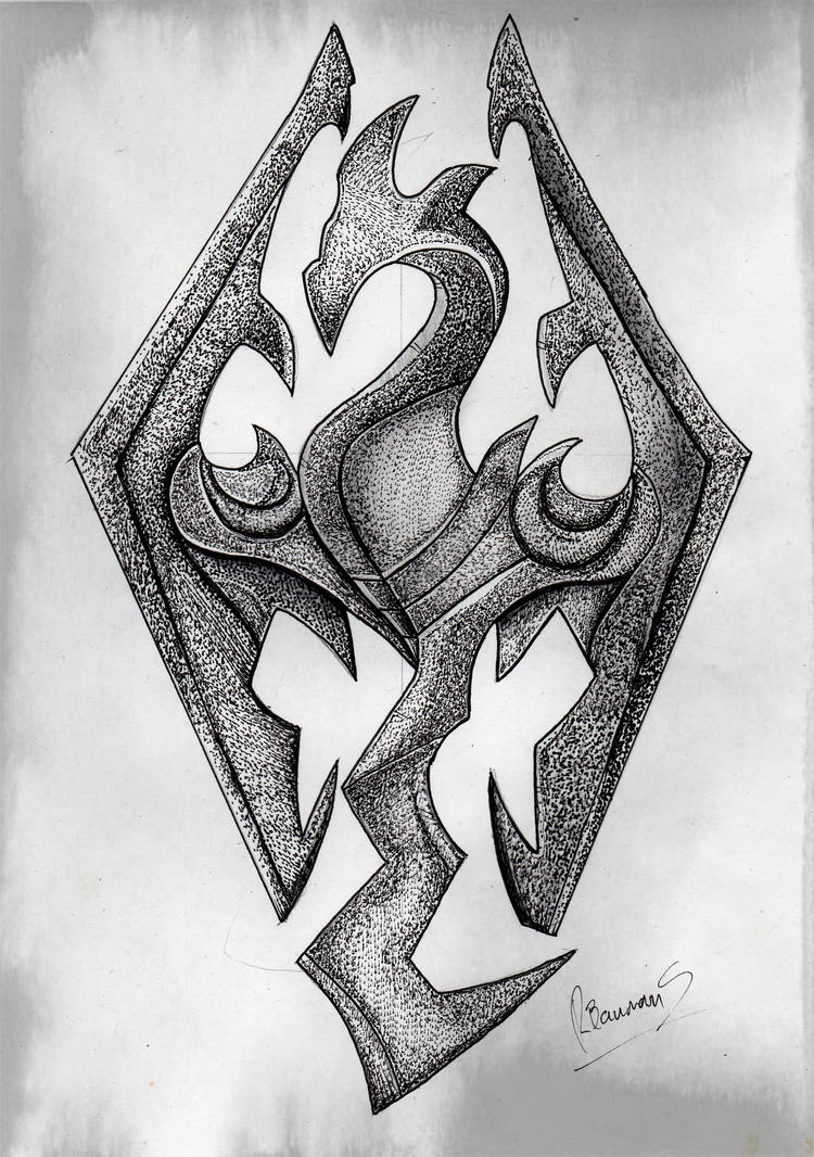 above is skyrim drawing - photo #12