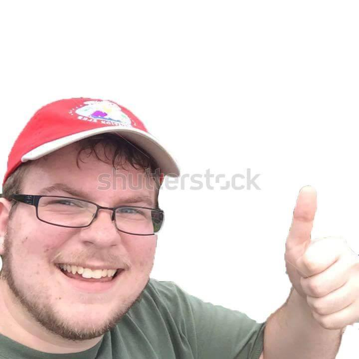 Thumb up smiling man