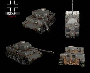 WWII Tiger I H by NomadaFirefox