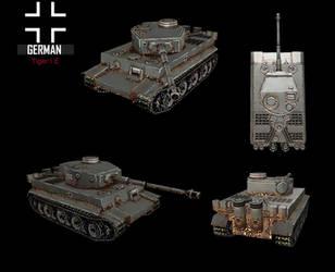 WWII TigerI E by NomadaFirefox