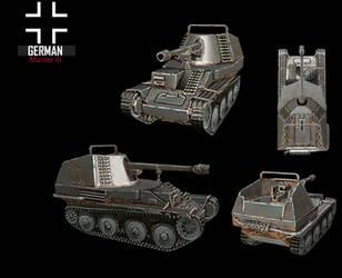 WWII Marder III by NomadaFirefox
