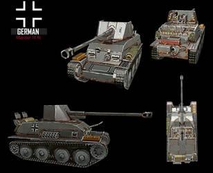 WWII Marder IIIR by NomadaFirefox