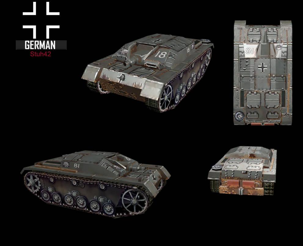WWII Stuh42 by NomadaFirefox