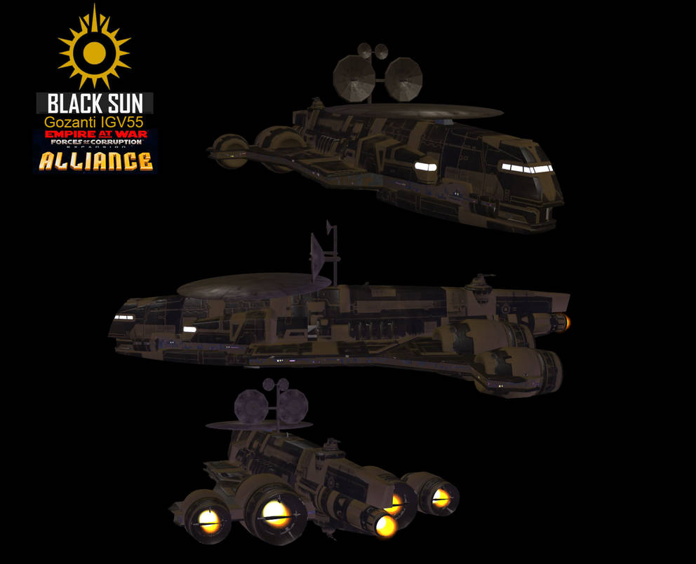 FOC Alliance Rebellion – Black Sun Gozanti IGV 55