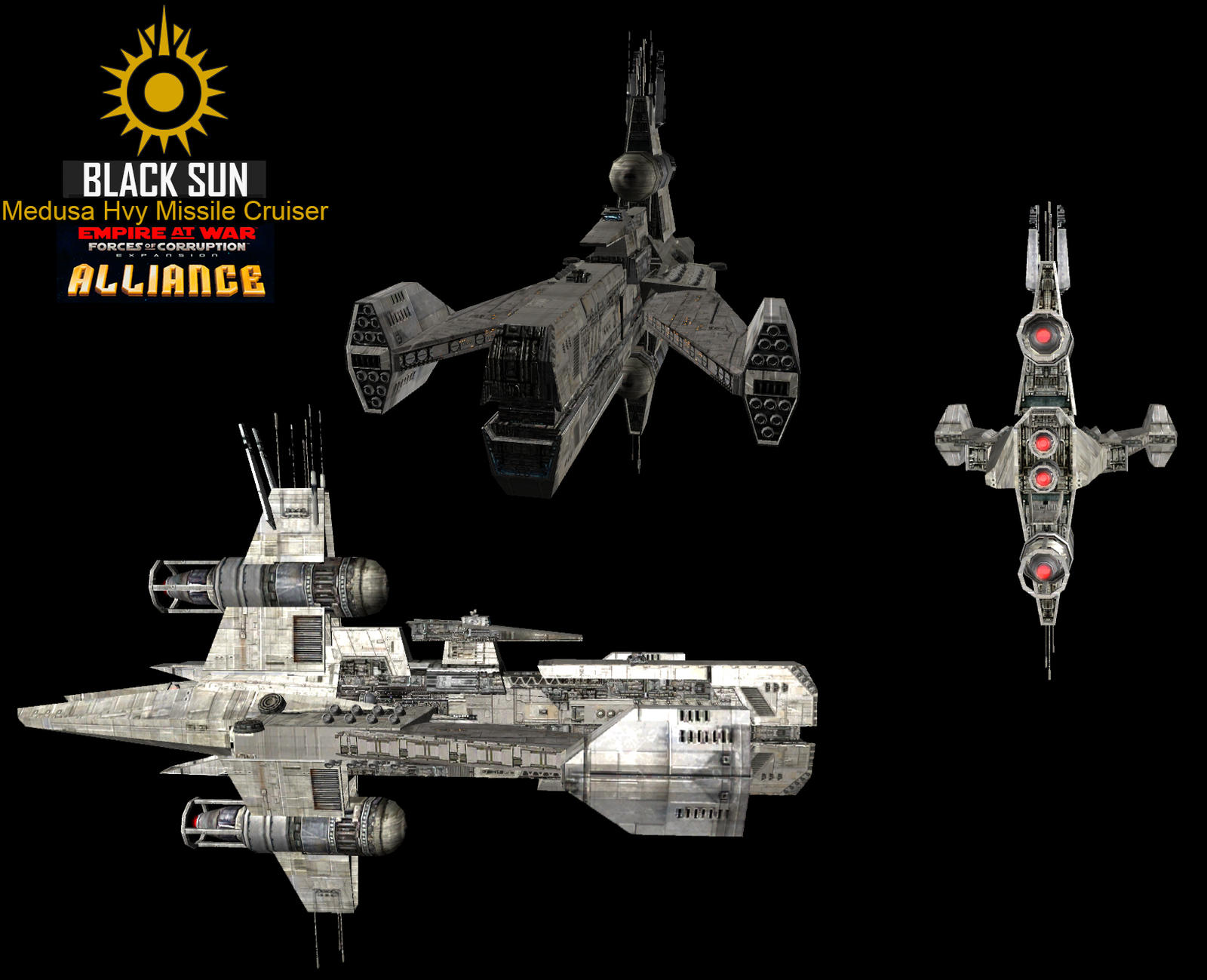 Star Wars Empire at War – FOC Alliance – New Medusa Hvy Missile Cruiser