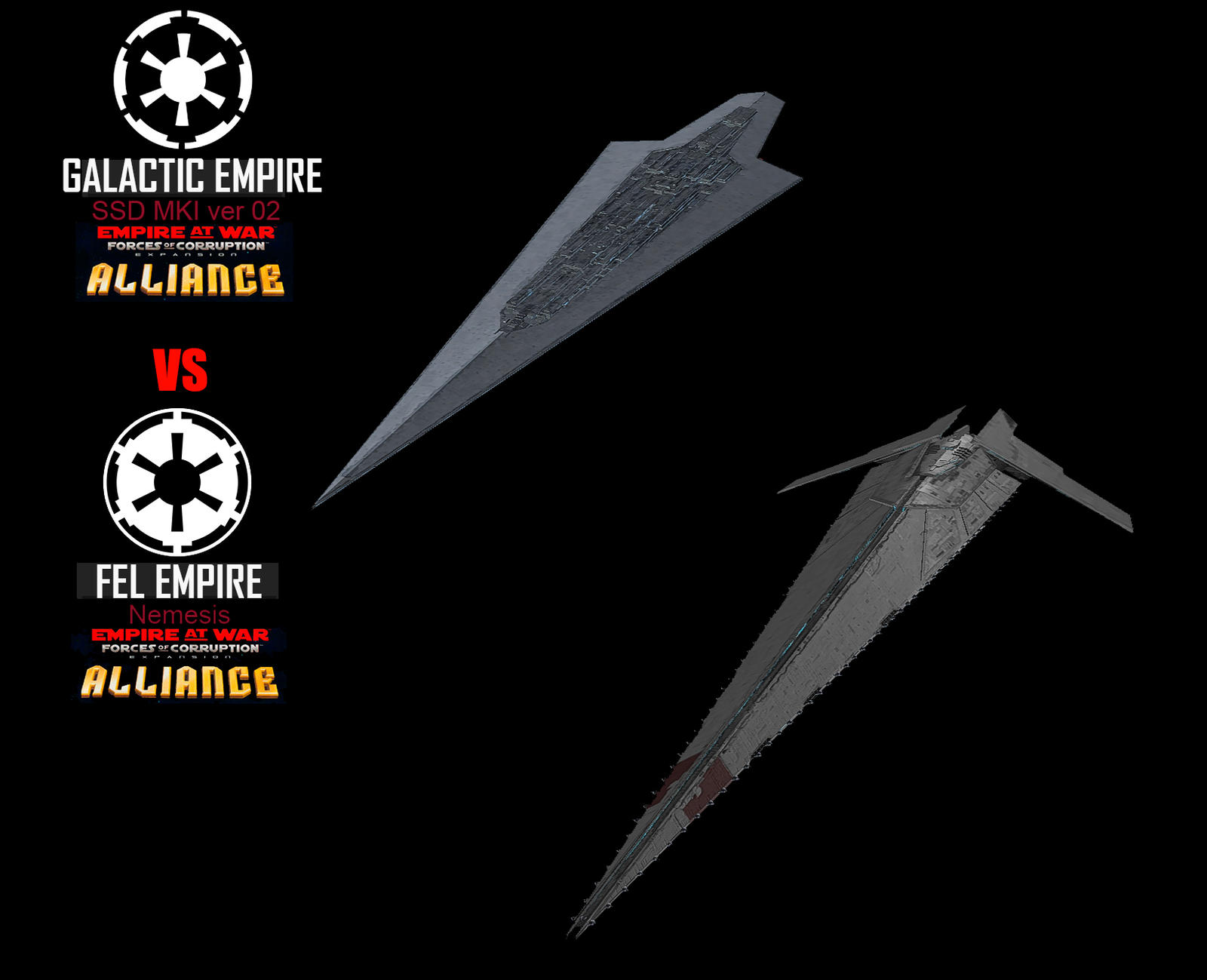 Star Wars Empire at War – FOC Alliance – SSD MKI vs Nemesis
