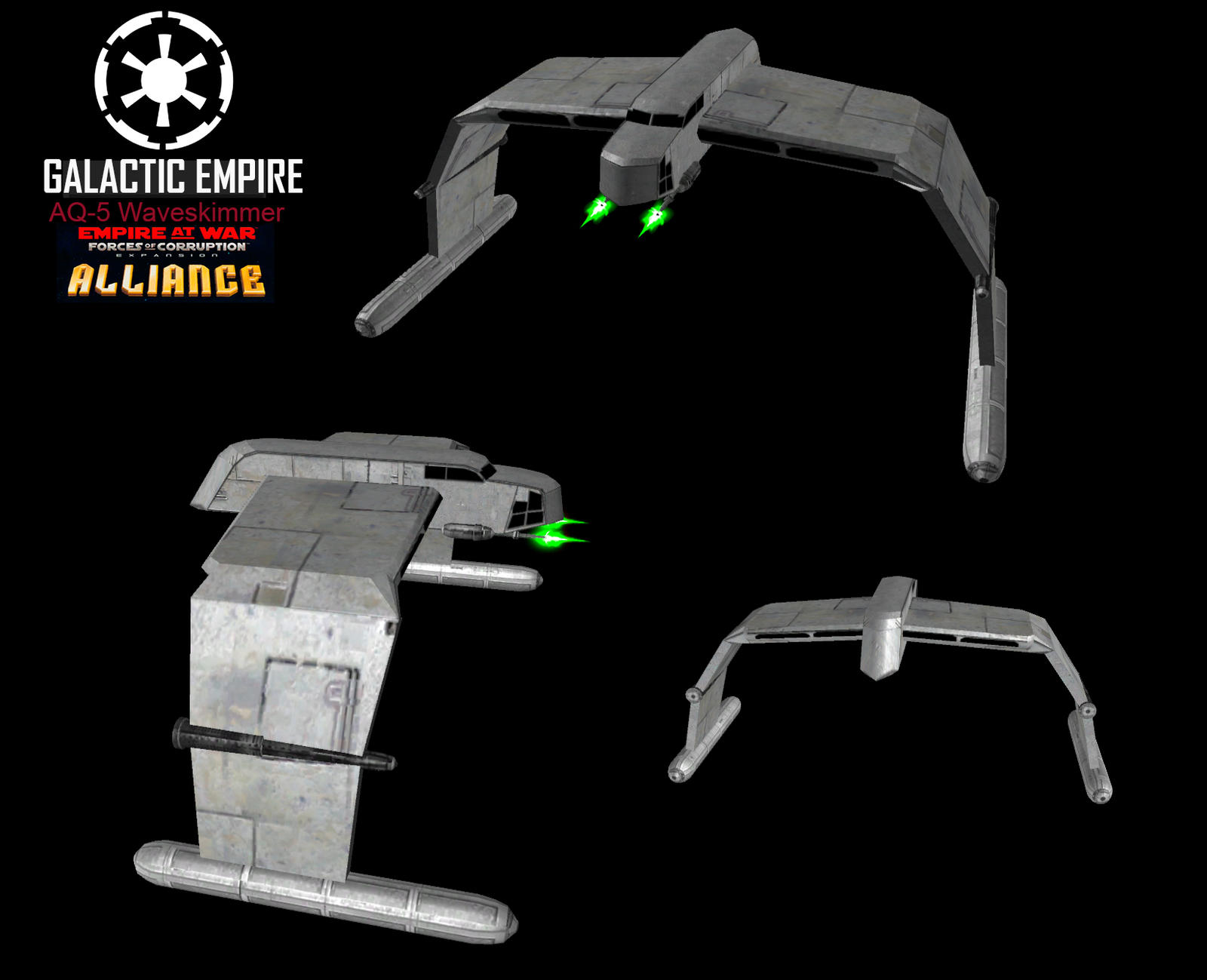 Star Wars Empire at War – FOC Alliance – AQ-5 Waveskimmer