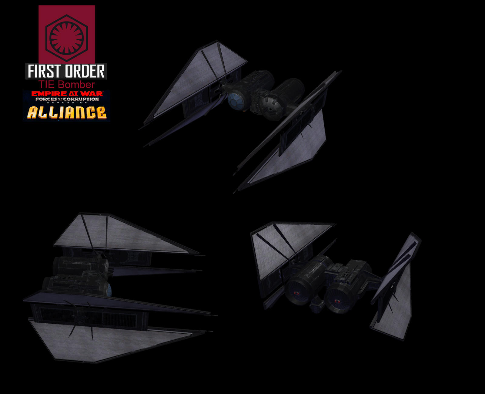 Star Wars Empire at War – FOC Alliance – First Order TIE Bomber