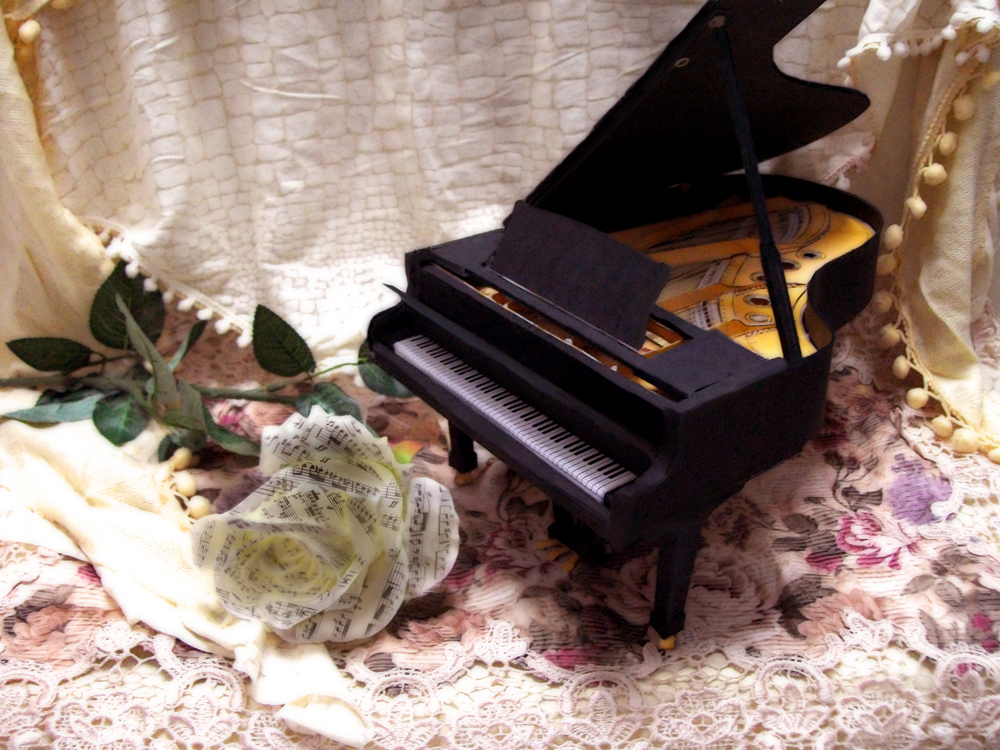 Grand Piano Elegance by Vissyscrafts