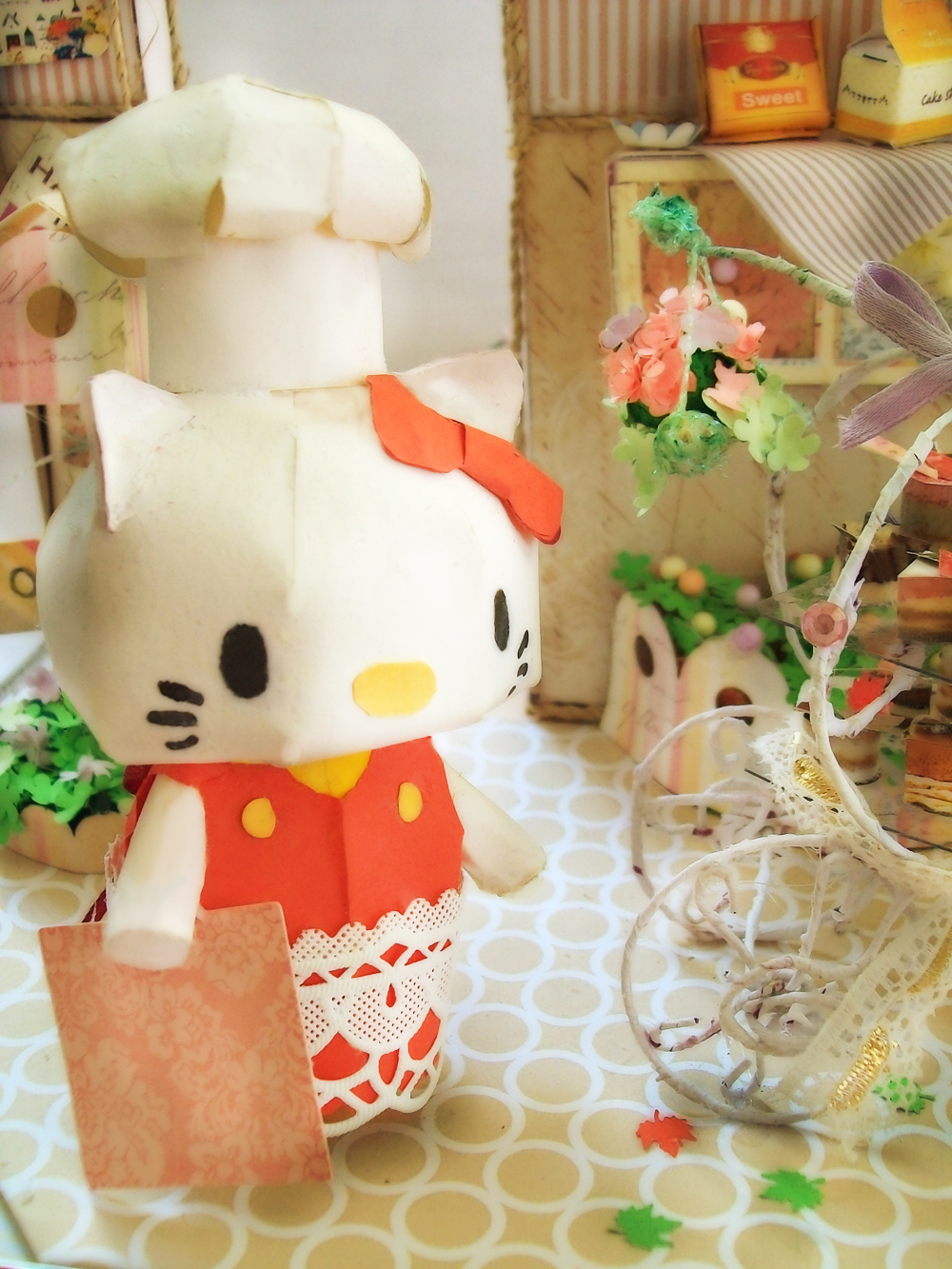 Adorable Cafe part 1 (Hello Kitty) by Vissyscrafts
