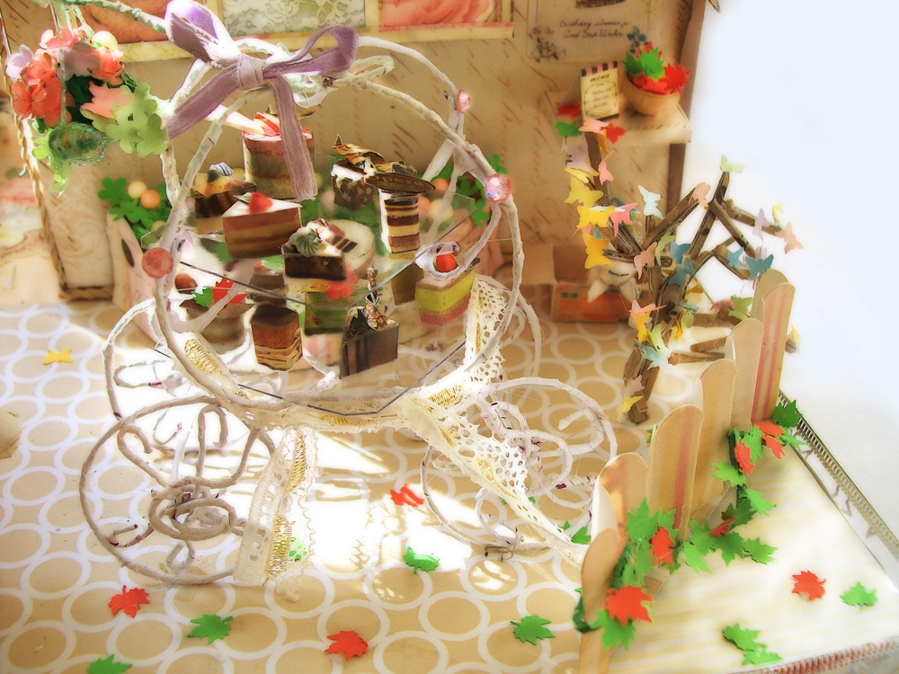 Adorable Cafe part 2 (Cake Stand) by Vissyscrafts