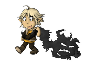 Chibi Imrill with a Shadow