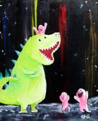 dinosaur by peaceartist