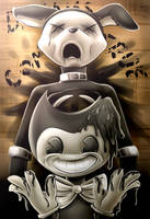 Bendy and the Ink Machine (with speedpaint) by Fluffy-Ravens