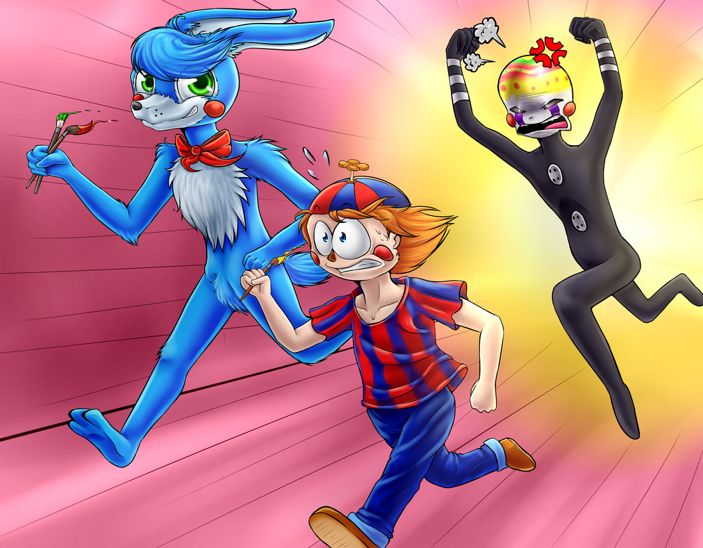 Easter Special (FNAF) with speedpaint by Fluffy-Ravens