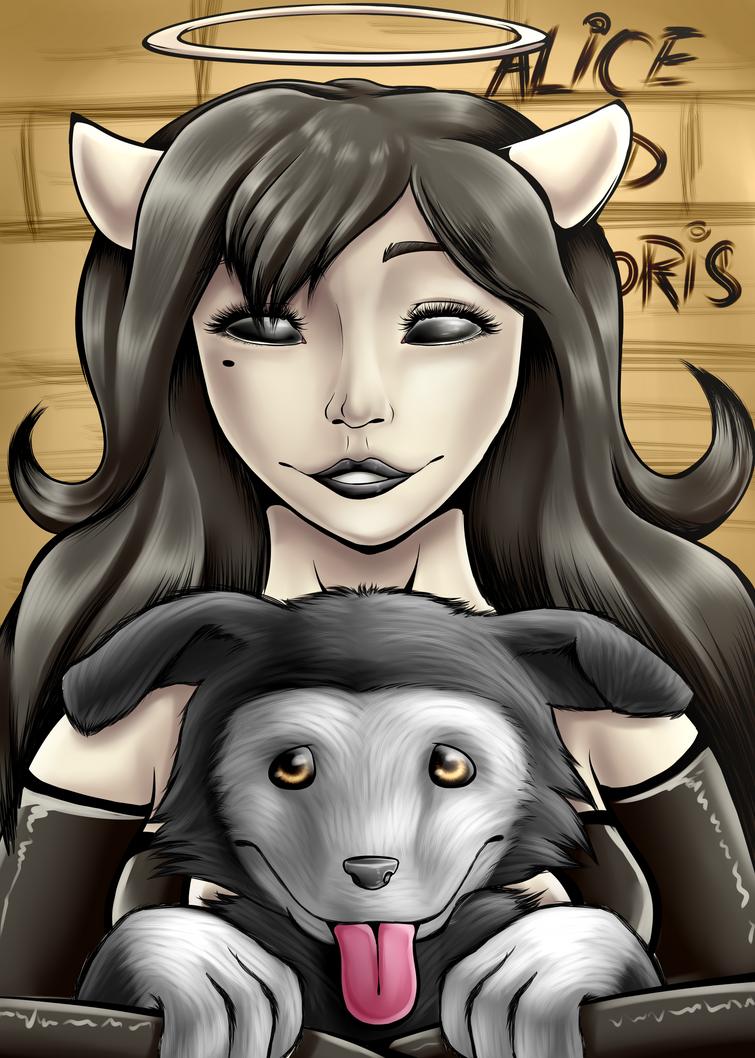 Alice And Boris (BATIM) with speedpaint by Fluffy-Ravens