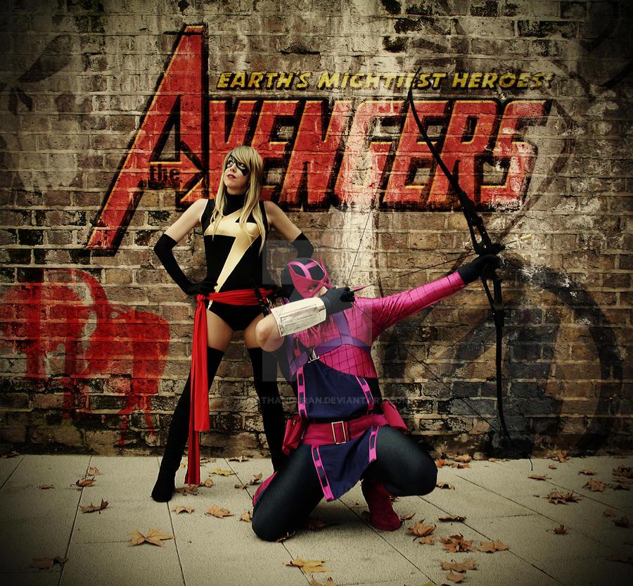 The Avengers: Ms Marvel and Hawkeye by JonathanDuran