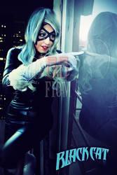 The lady black cat