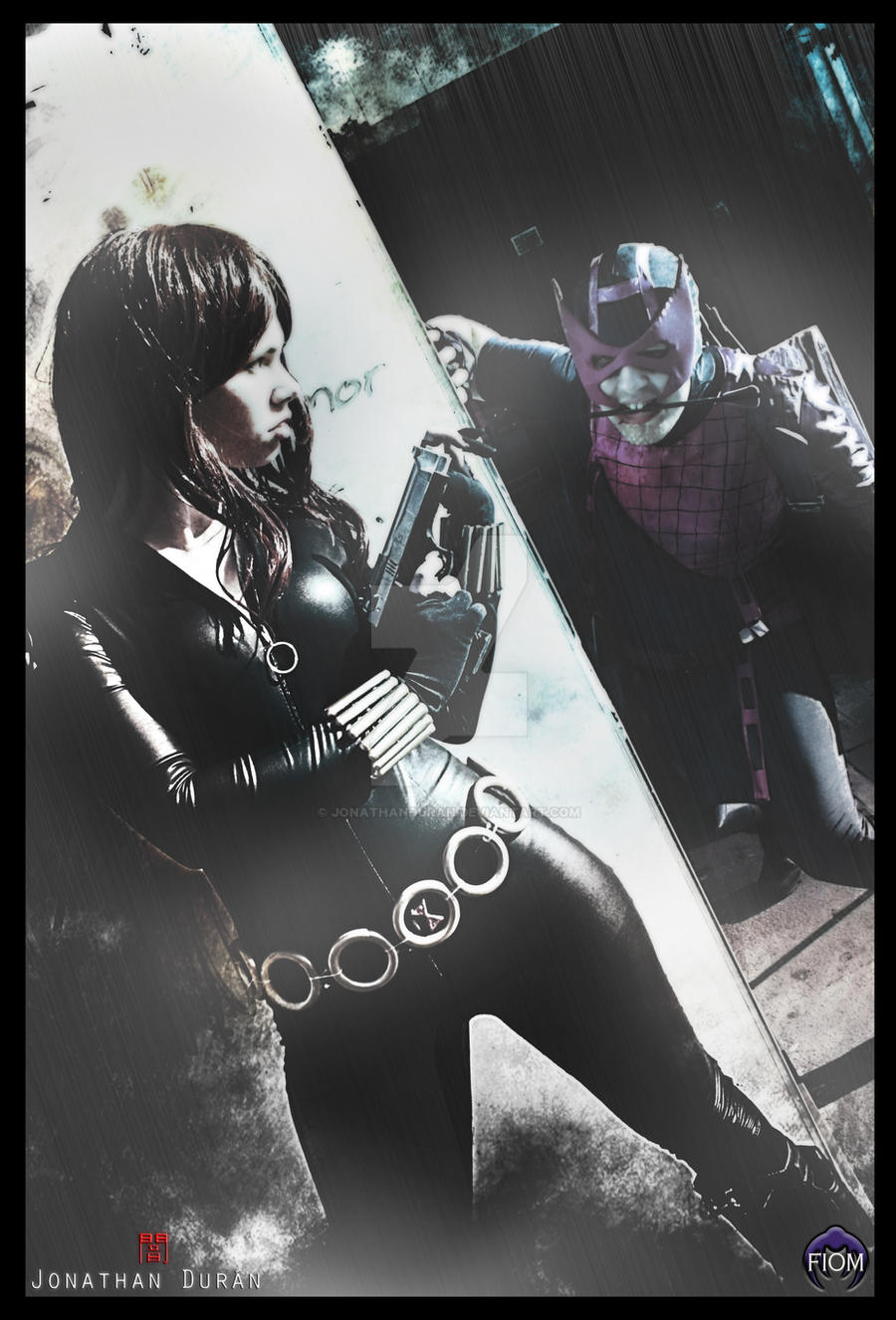 Marvel Zombies: Black widow versus Hawkeye by JonathanDuran