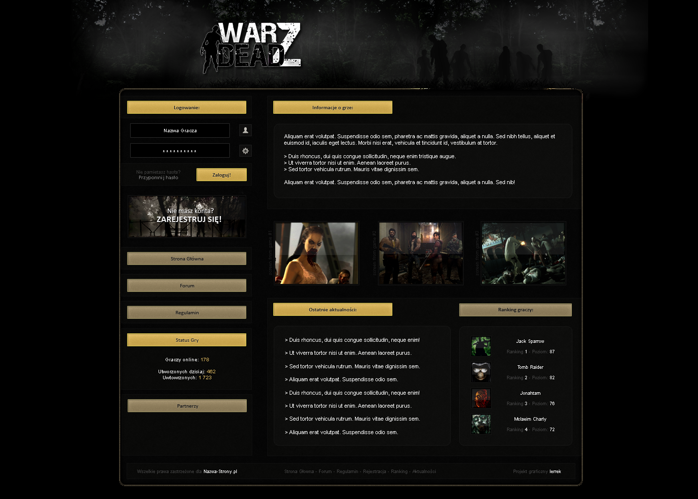 web design games