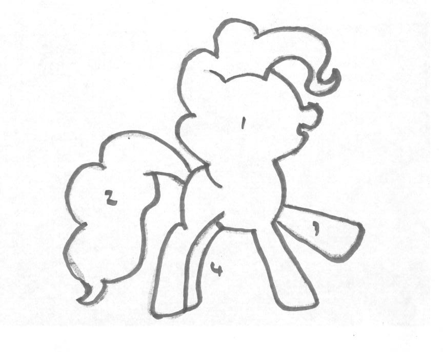 Pinkie Pie Pumpkin Stencil Make Your Own P...
