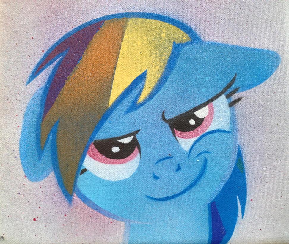 Smirking Dash Stencil by SCARFI5H