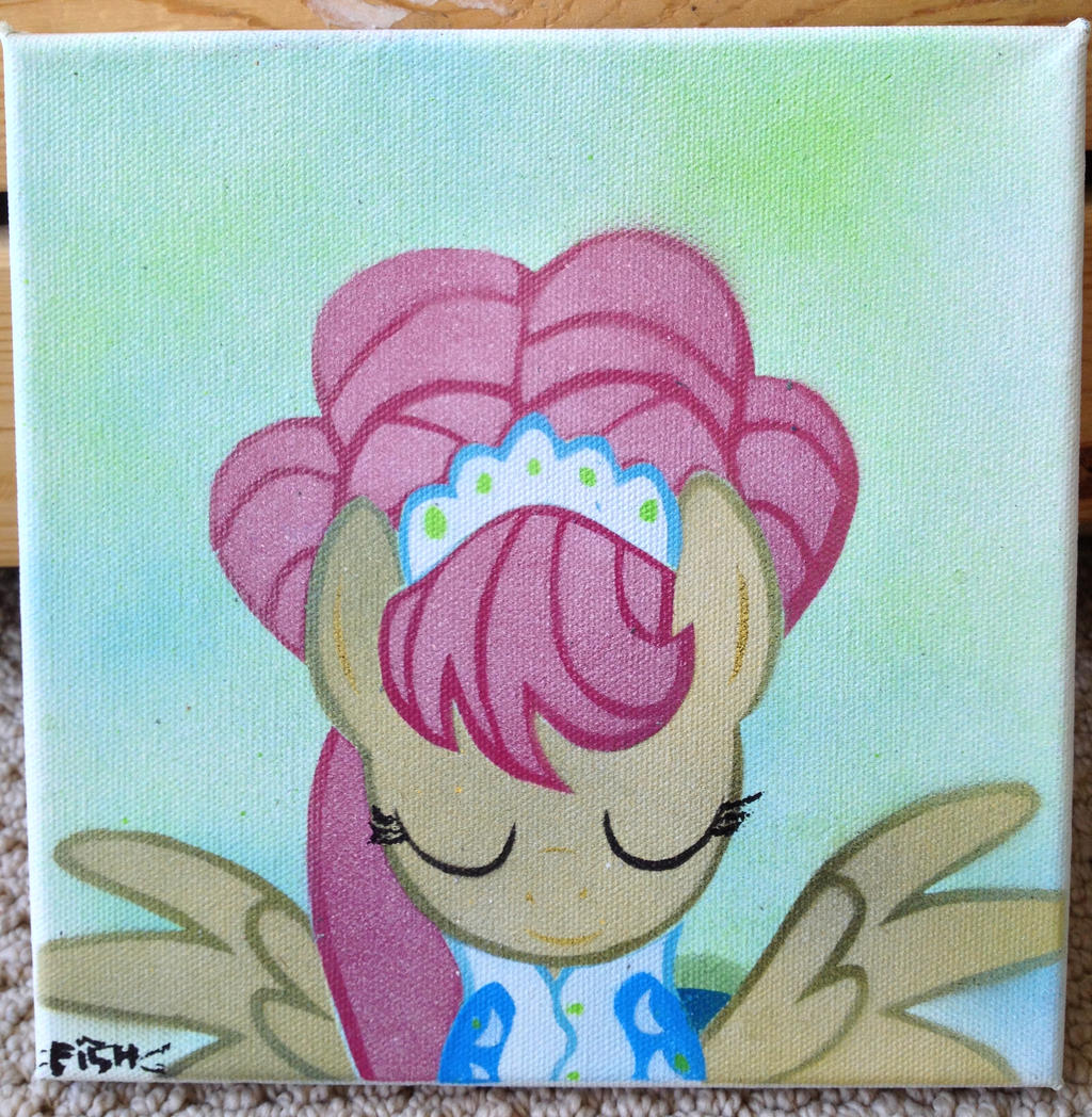Fluttershy The Model Stencil by SCARFI5H