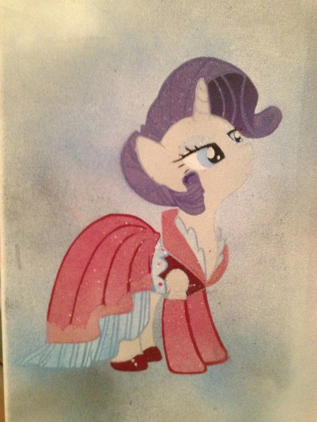 Lady Rarity stencil by SCARFI5H
