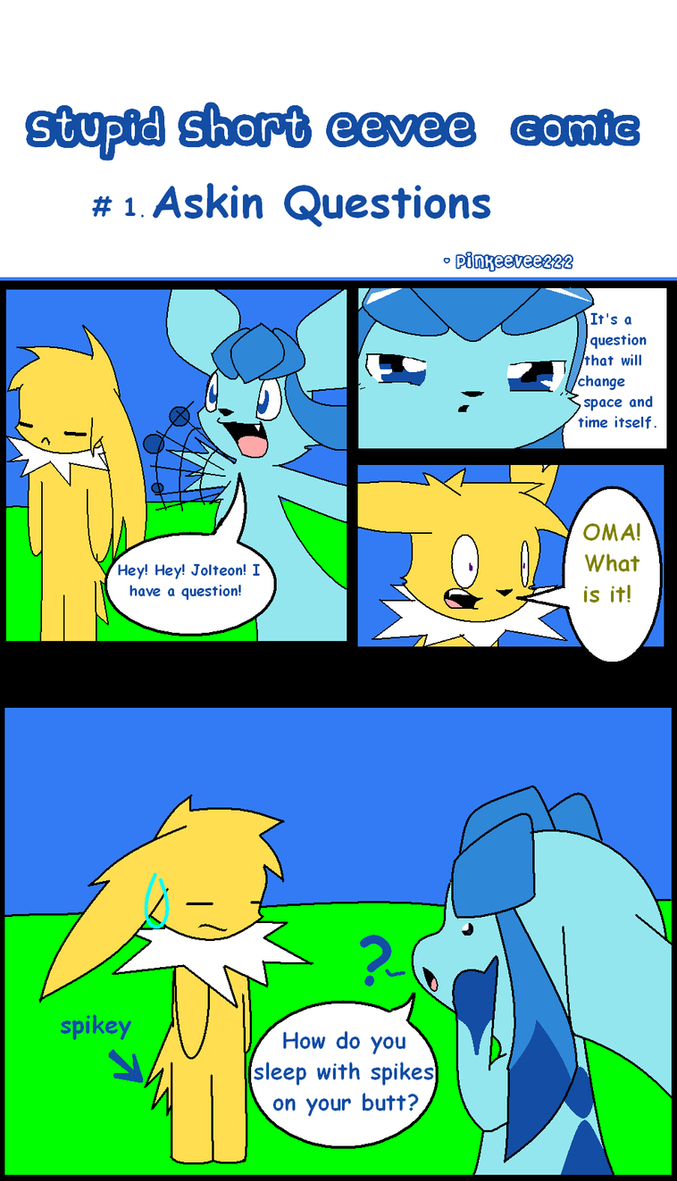 Stupid short eevee comic #1 by pinkeevee222