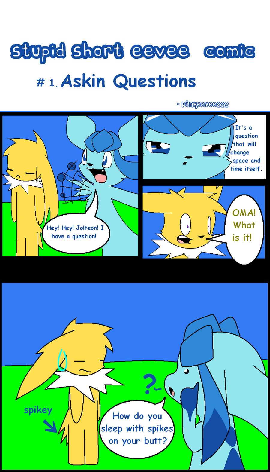 Stupid short eevee comic #1 by pinkeevee222