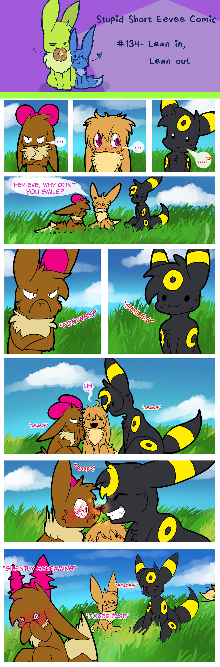 The two eevees on the header