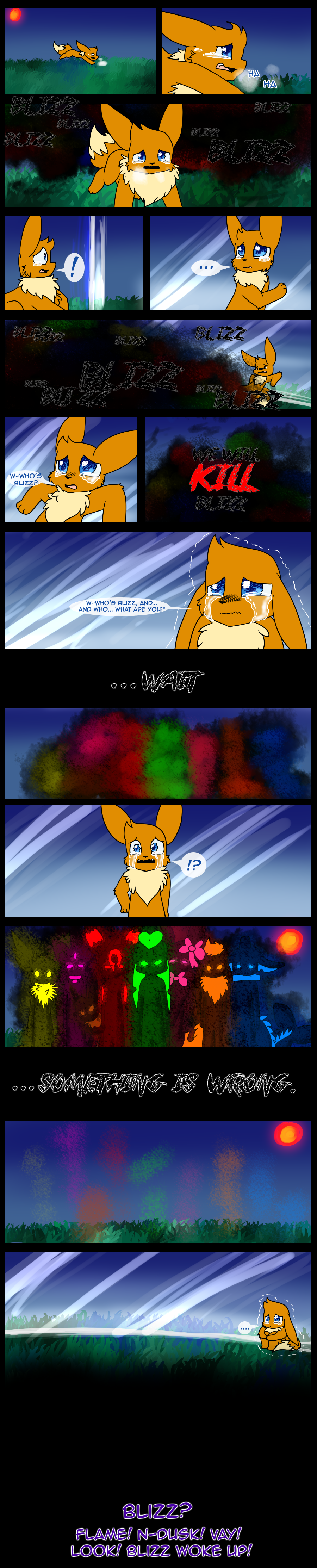 I only gave 2 of the colorful things names.... even though they were made more than 3 years ago. But, I did draw one of them once, in comic #53..... even though I changed his design somewhat since then...