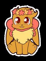 Commission- Flower Eevee by Scruffyeevee