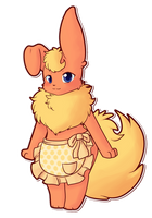 Ginger the flareon by Scruffyeevee