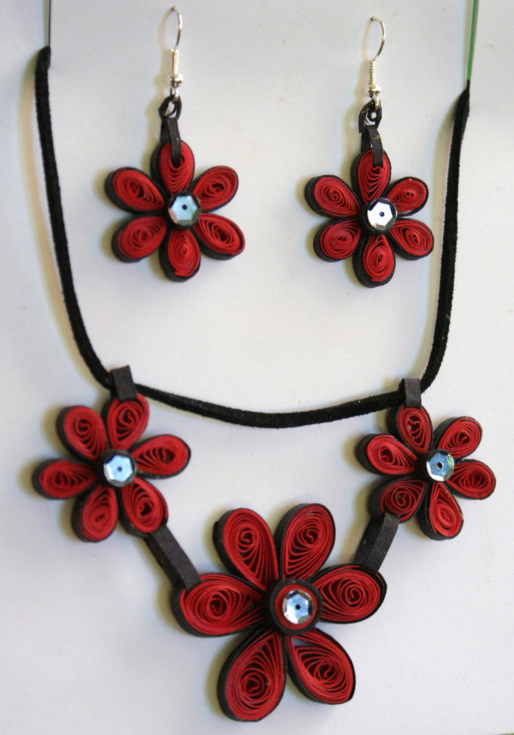 Quilled paper jewellery by Equi-Art on DeviantArt