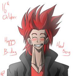 Happy Birthday Kirishima by Gihellcy-Bleizdu