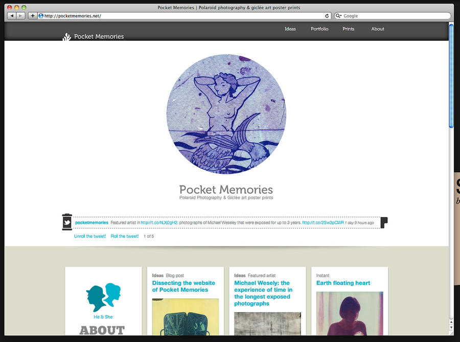 the new drupal website of pocketmemories by buhoazul